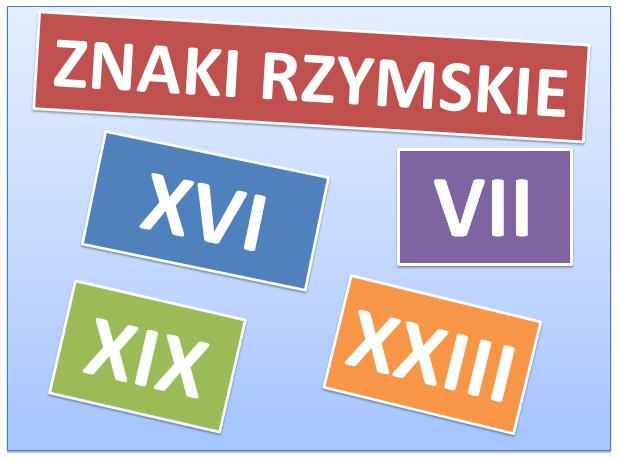 Zapisywanie i odczytywanie liczb w systemie rzymskim