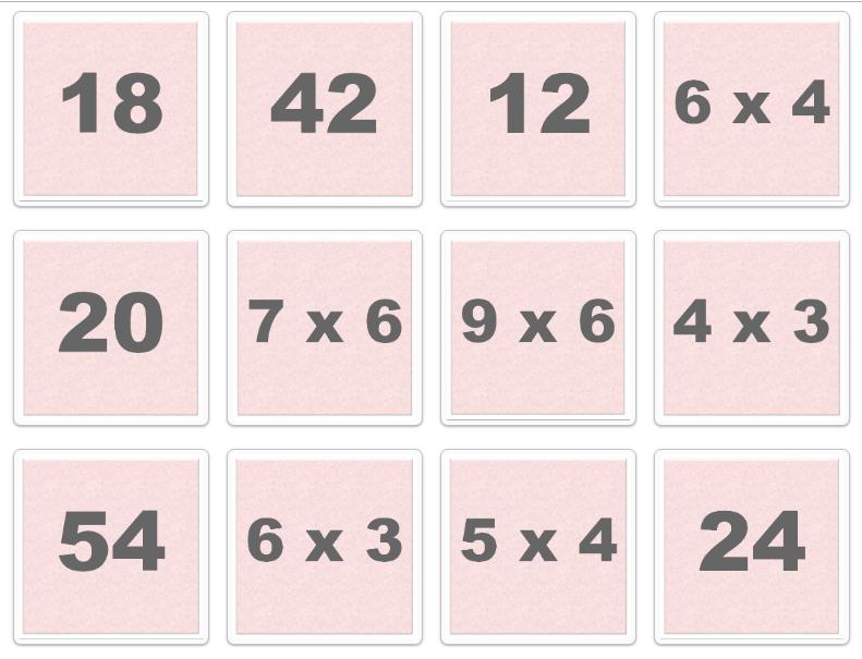 Pamięciowe mnożenie liczb naturalnych