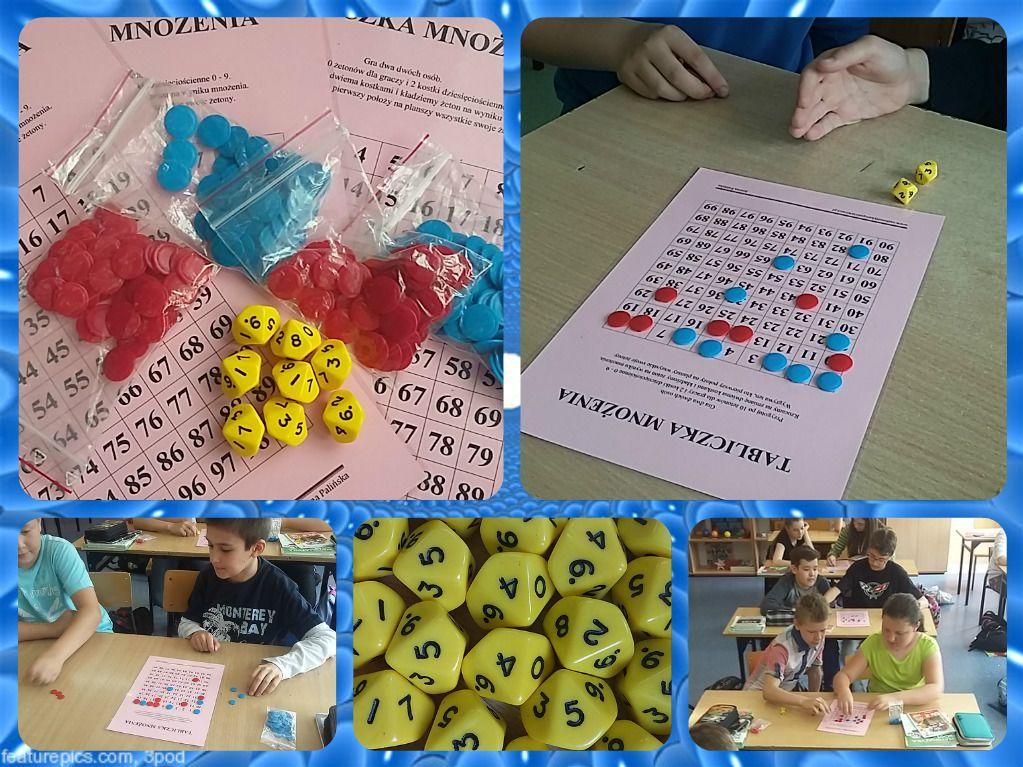 Tabliczka mnożenia – zabawa z kostkami