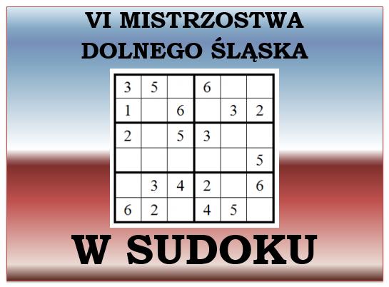 VI Mistrzostwa Dolnego Śląska w SUDOKU