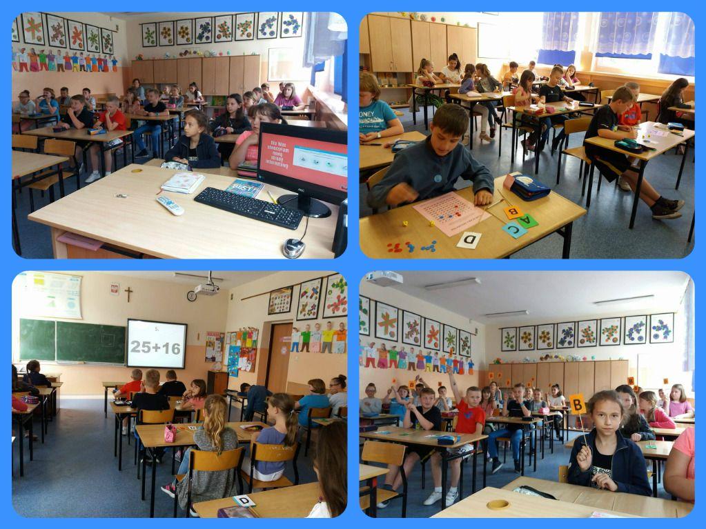 Lekcja matematyki dla uczniów klasy IIIE