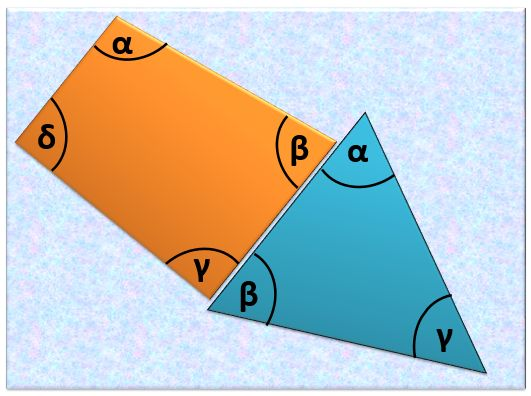 Suma kątów w trójkącie i czworokącie