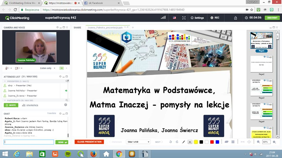 Webinar dla nauczycieli o Matematyce w podstawówce