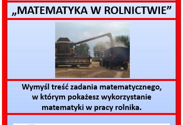 """Konkurs pt. """"MATEMATYKA W ROLNICTWIE"""""""