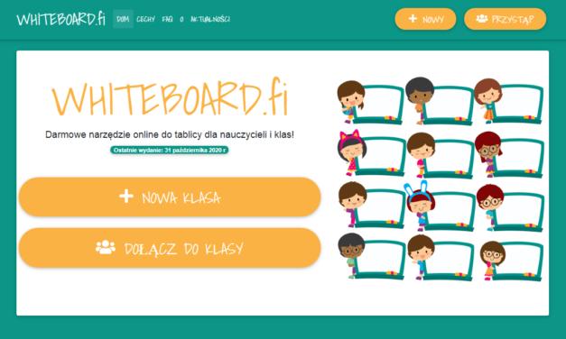 Whiteboard – do wykorzystania podczas zdalnych lekcji